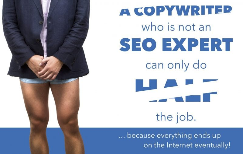 A copywriter who is not an SEO expert can only do half the job