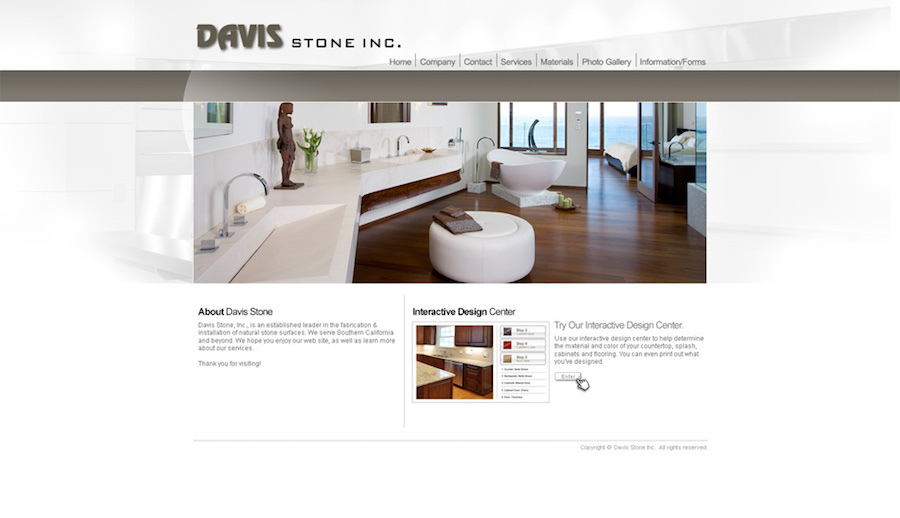 Davis website screenshot
